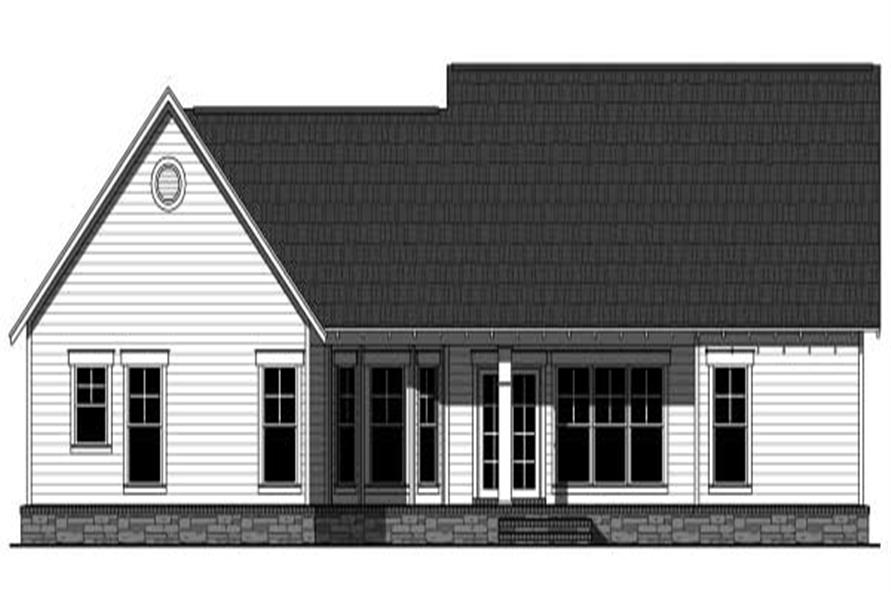 Home Plan Rear Elevation of this 3-Bedroom,1800 Sq Ft Plan -141-1035