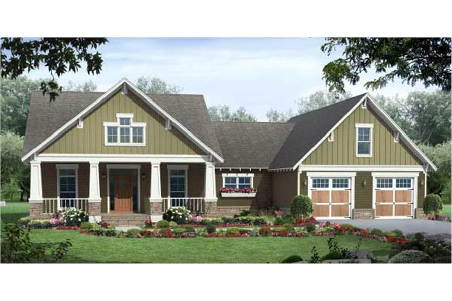 Home Plan Rendering of this 3-Bedroom,1800 Sq Ft Plan -141-1035
