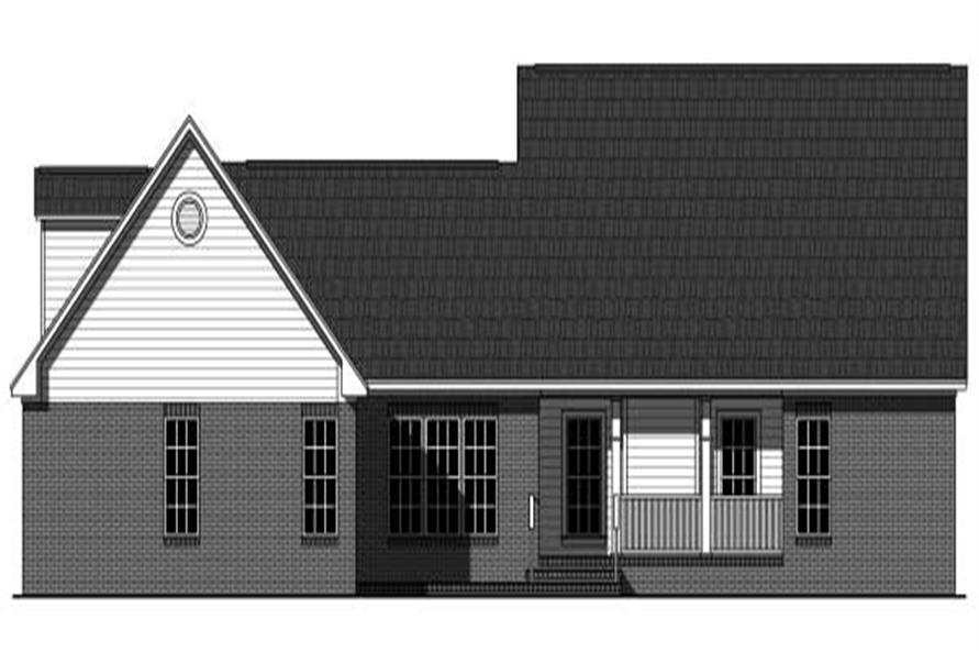 Home Plan Rear Elevation of this 3-Bedroom,3560 Sq Ft Plan -141-1036