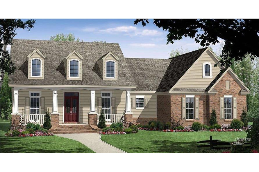 3-Bedroom, 3560 Sq Ft Country Home Plan - 141-1036 - Main Exterior