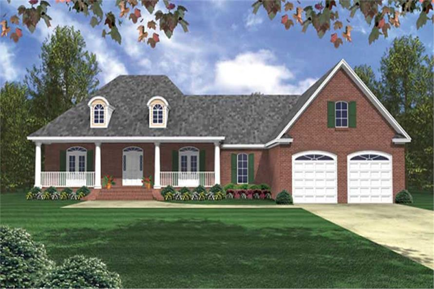 3-Bedroom, 2024 Sq Ft Country House Plan - 141-1037 - Front Exterior