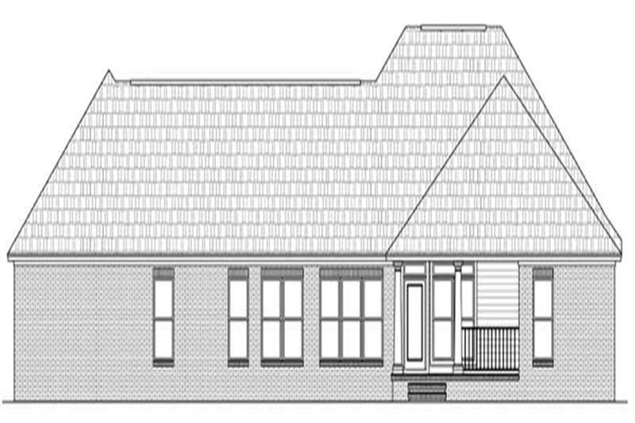 Home Plan Rear Elevation of this 3-Bedroom,2024 Sq Ft Plan -141-1037
