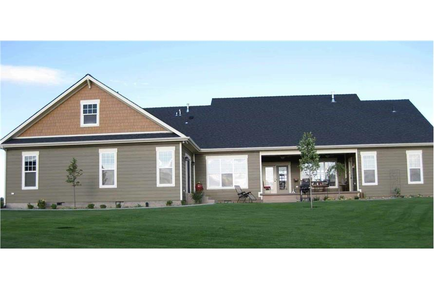 Rear View of this 4-Bedroom,2800 Sq Ft Plan -141-1038