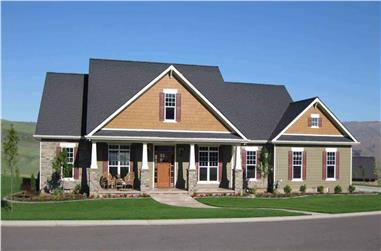 4-Bedroom, 2800 Sq Ft Ranch Home Plan - 141-1038 - Main Exterior