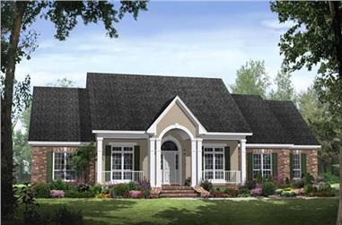 4-Bedroom, 2769 Sq Ft Country Home Plan - 141-1040 - Main Exterior