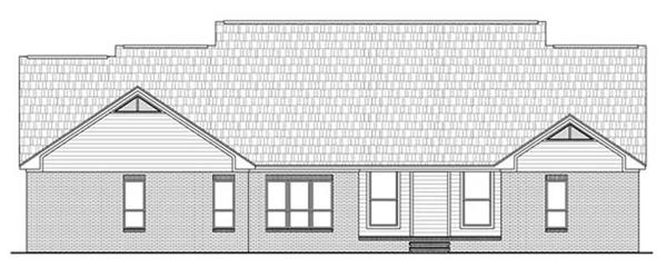 Home Plan Rear Elevation for country house plans HPG-2769