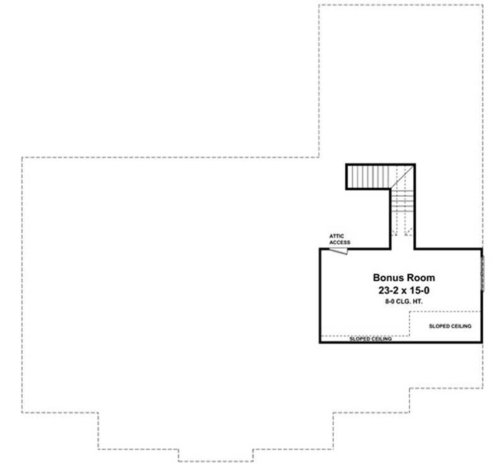 Floor Plan Bonus Room for country home plans HPG-2769