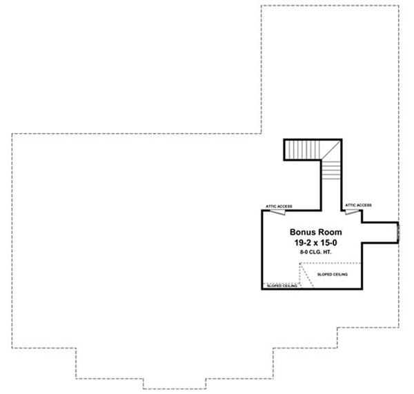 Floor Plan Bonus Room for country homeplans HPG-2769-2