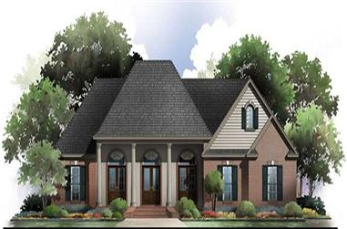 3-Bedroom, 2100 Sq Ft Acadian Home Plan - 141-1042 - Main Exterior