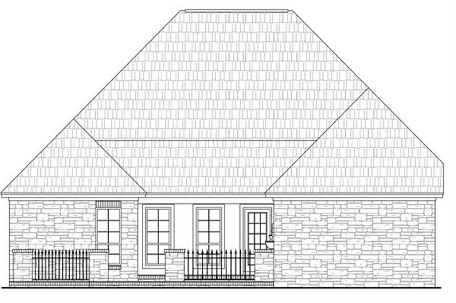 Home Plan Rear Elevation of this 3-Bedroom,2000 Sq Ft Plan -141-1045