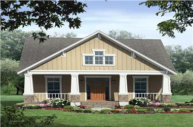 3-Bedroom, 2789 Sq Ft Home Plan - 141-1047 - Main Exterior