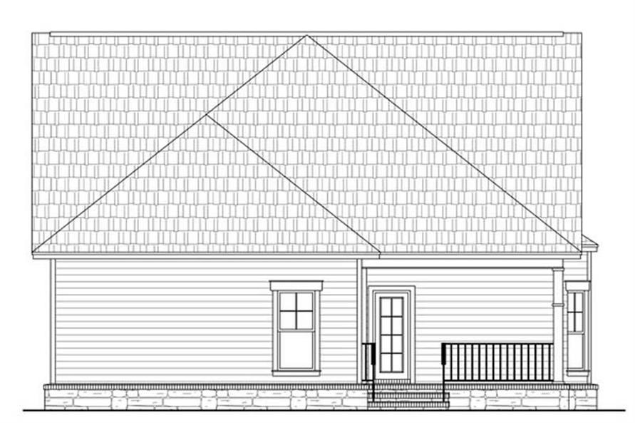 Home Plan Rear Elevation of this 3-Bedroom,2789 Sq Ft Plan -141-1047