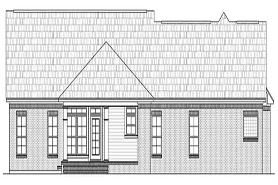 Home Plan Rear Elevation of this 3-Bedroom,2021 Sq Ft Plan -141-1048