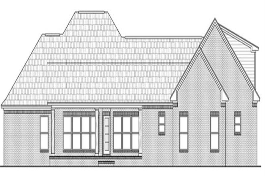 Home Plan Rear Elevation of this 4-Bedroom,2851 Sq Ft Plan -141-1053