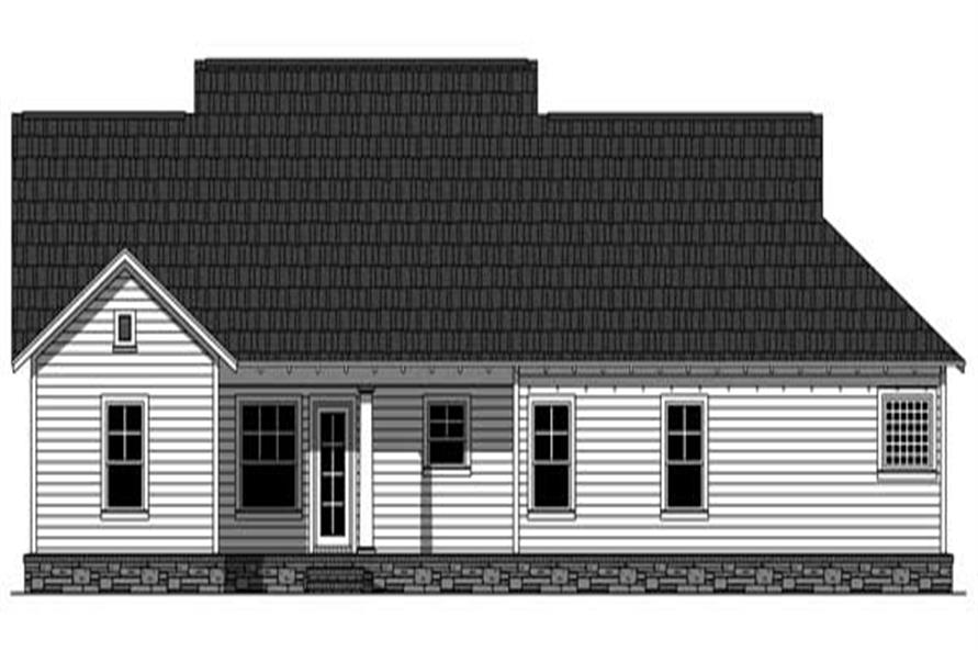 Home Plan Rear Elevation of this 3-Bedroom,1853 Sq Ft Plan -141-1054