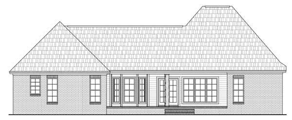 Home Plan Rear Elevation for Country House Plans # HPG-1879