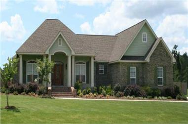 3-Bedroom, 3499 Sq Ft Country Home Plan - 141-1058 - Main Exterior