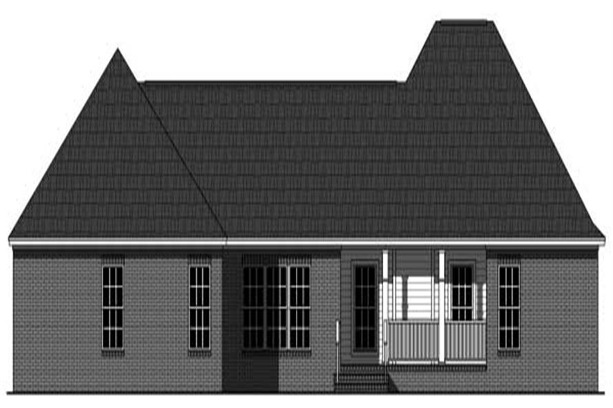Home Plan Rear Elevation of this 3-Bedroom,3499 Sq Ft Plan -141-1058