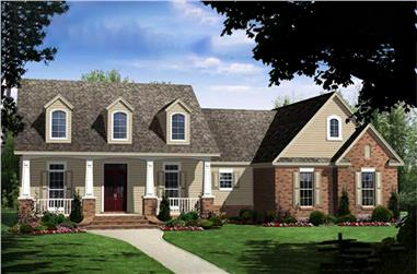4-Bedroom, 2250 Sq Ft Country Home Plan - 141-1060 - Main Exterior