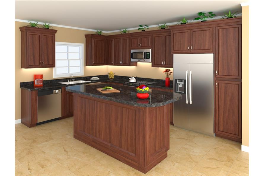 141-1061: Home Plan 3D Image-Kitchen