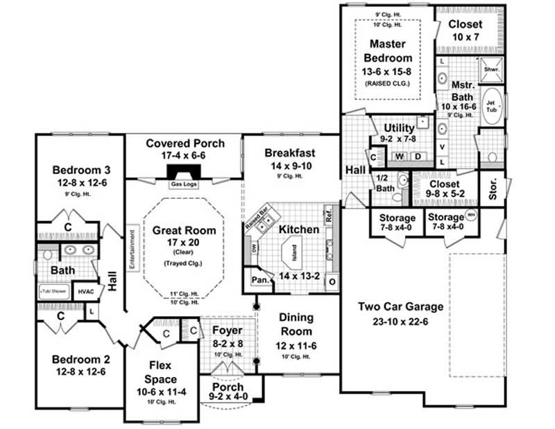 House Plan HPG-2350-1 Main Floor Plan