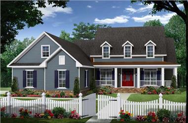 3-Bedroom, 2150 Sq Ft Cape Cod Home Plan - 141-1065 - Main Exterior
