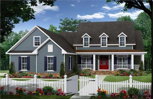 This is a computerized rendering of these Cape Cod Houseplans.