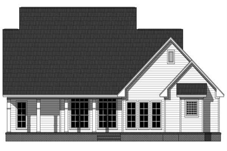 Home Plan Rear Elevation of this 3-Bedroom,2150 Sq Ft Plan -141-1065
