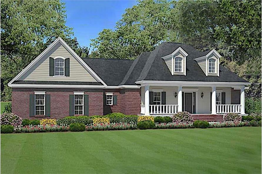 3-Bedroom, 1635 Sq Ft Acadian House Plan - 141-1066 - Front Exterior