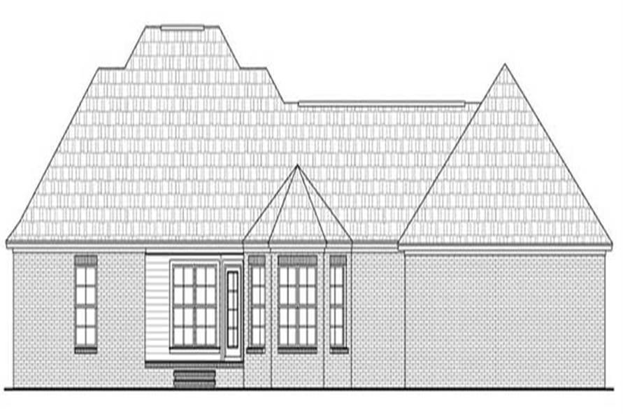 Home Plan Rear Elevation for HPG-1635B