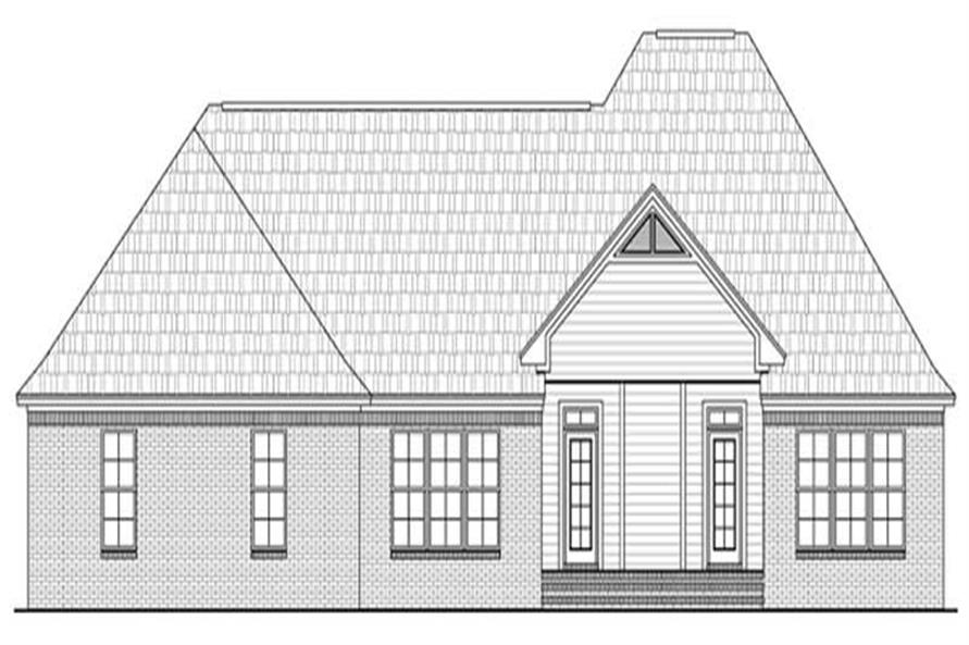 Home Plan Rear Elevation of this 3-Bedroom,2389 Sq Ft Plan -141-1069