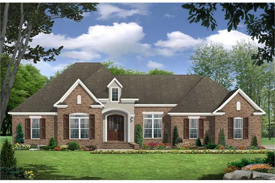 3-Bedroom, 2389 Sq Ft Country House Plan - 141-1069 - Front Exterior