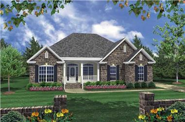 3-Bedroom, 1610 Sq Ft Acadian House Plan - 141-1070 - Front Exterior