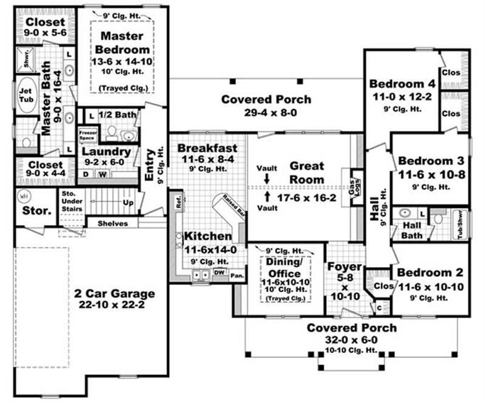 Acadian Home Plan - 4 Bedrms, 2.5 Baths - 2100 Sq Ft - #141-1071 on 3 beds house plans, 2100 sq ft home, 2119 sq ft. house plans, bathrooms house plans, 2 bath house plans, tailor of room floor plans, 2100 sf house plans, finished basement house plans, garlinger house plans, large kitchen house plans,