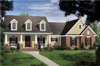 4-Bedroom, 2516 Sq Ft Country Home Plan - 141-1073 - Main Exterior