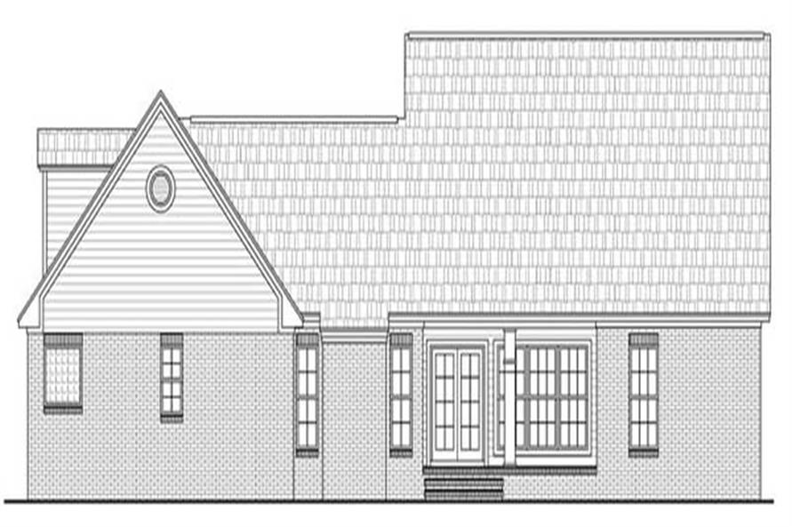 Home Plan Rear Elevation for country home plans HPG-2516
