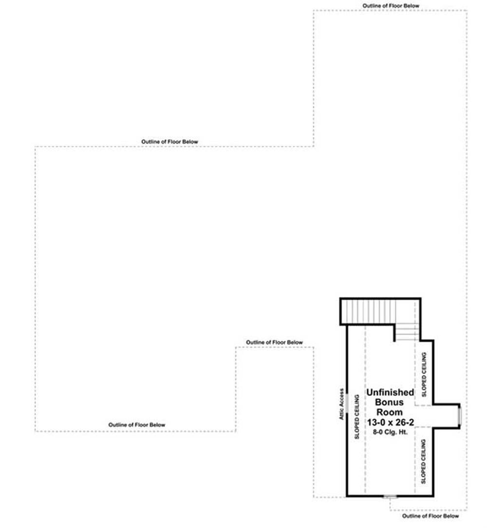 Floor Plan Bonus Room for country house plans HPG-2516
