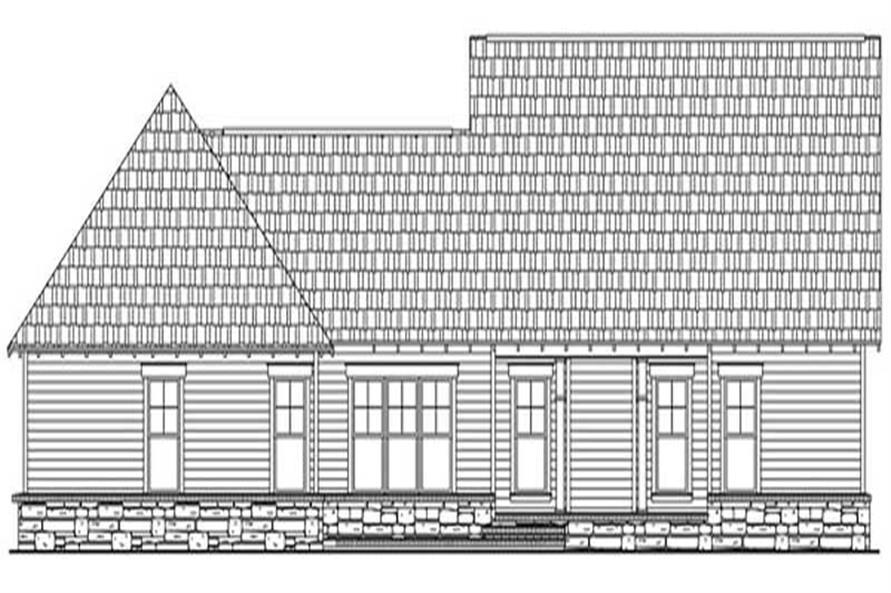 Home Plan Rear Elevation of this 3-Bedroom,2067 Sq Ft Plan -141-1075