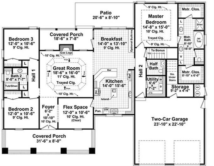 3 Bedrm 2067 Sq Ft Craftsman House Plan 141 1075