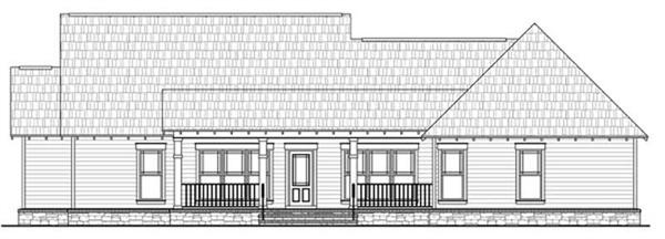 Home Plan Rear Elevation for HPG-1800-7