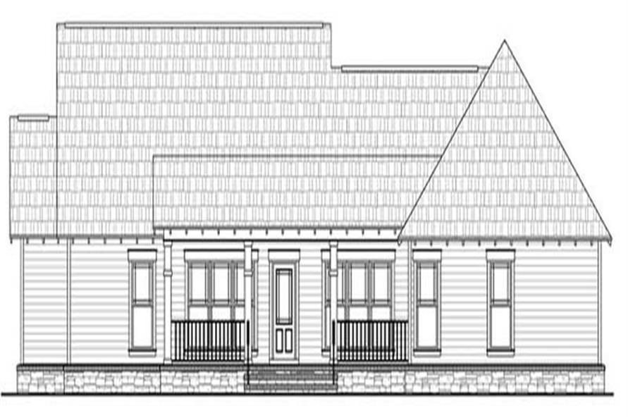 Home Plan Rear Elevation of this 3-Bedroom,1800 Sq Ft Plan -141-1077