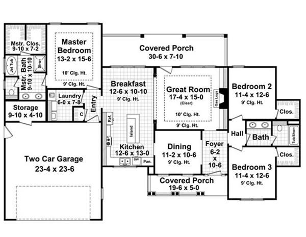 Floor Plan First Story for HPG-1800-7