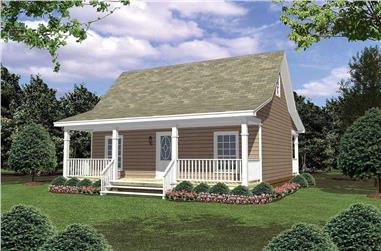 1-Bedroom, 600 Sq Ft Country Home Plan - 141-1079 - Main Exterior