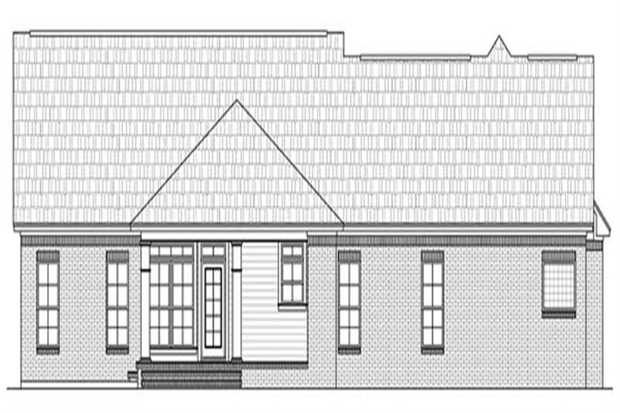 Home Plan Rear Elevation of this 3-Bedroom,2000 Sq Ft Plan -141-1080