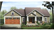 This is a 3D rendering for these Craftsman Home Plans.