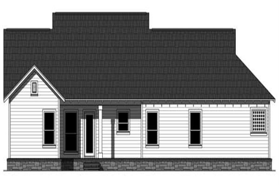 Home Plan Rear Elevation of this 3-Bedroom,1604 Sq Ft Plan -141-1081