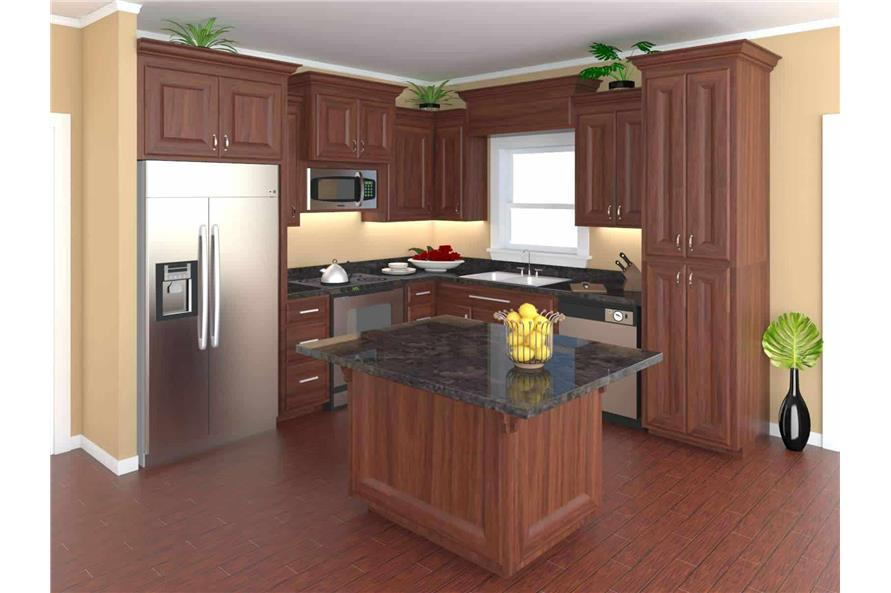 141-1081: Home Plan Rendering-Kitchen