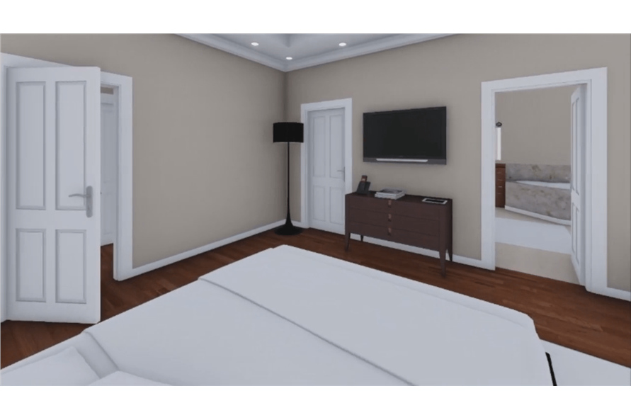 141-1081: Home Plan Rendering-Master Bedroom