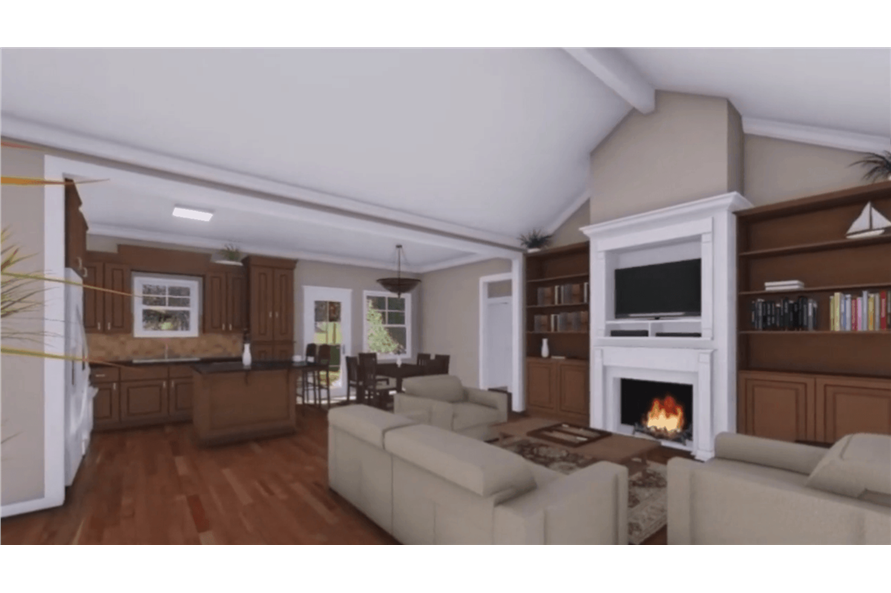 141-1081: Home Plan Rendering-Great Room