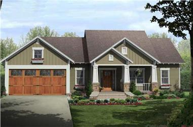3-Bedroom, 1604 Sq Ft Craftsman Plan - #141-1081 - Main Exterior